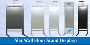 slat wall display stands for trade shows