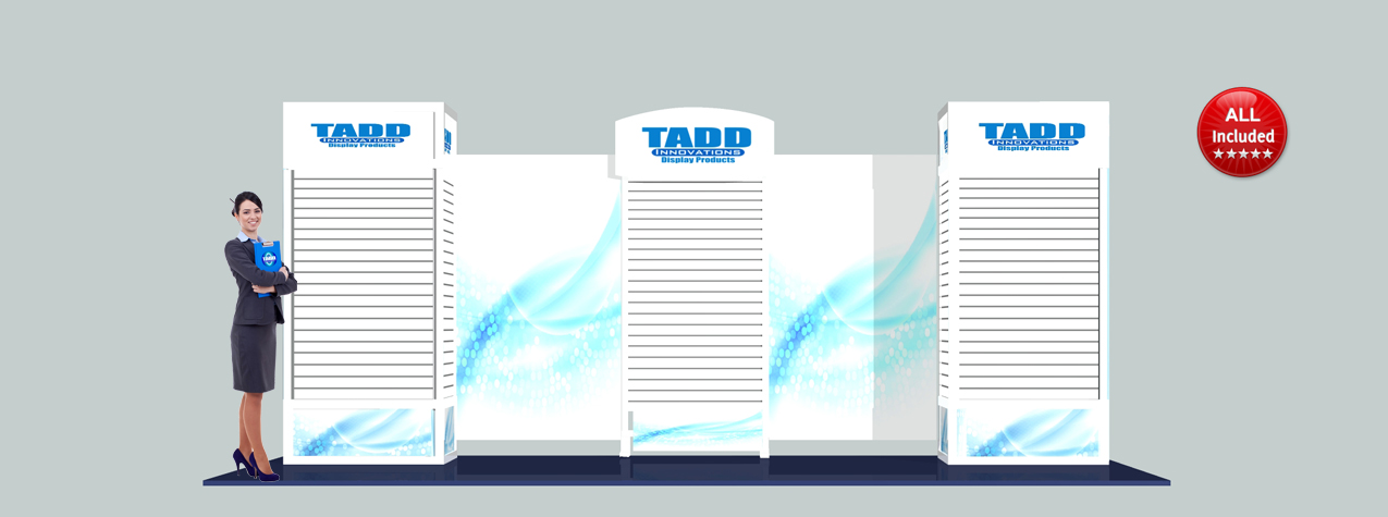 slat tower 20 ft trade show booth display