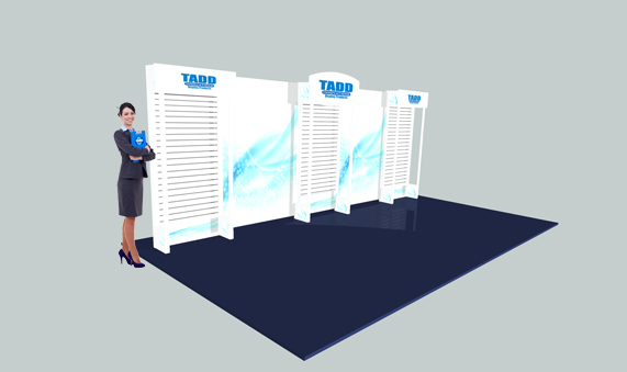 slat wall trade show 20 ft booth