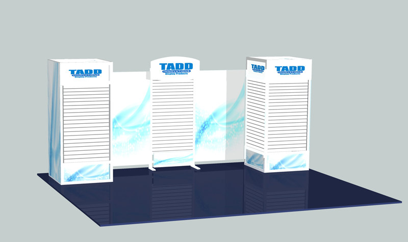 slat wall tower trade show booth