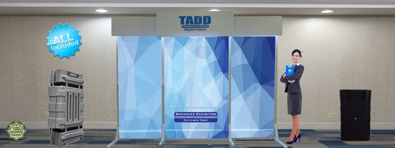 Trade Show Booth Graphics : Trade show slat wall displays with graphic trade show displays