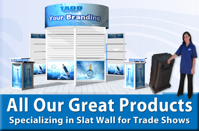 trade show display products specializing in slat wall