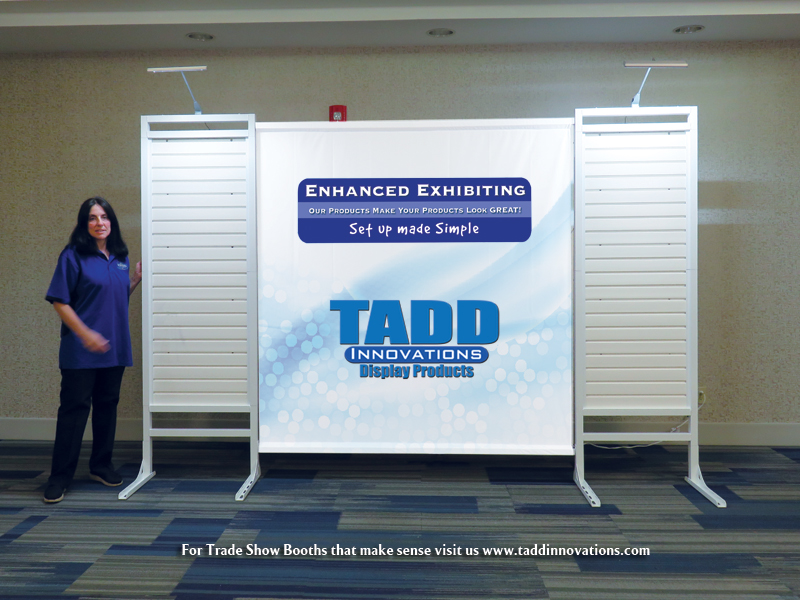 slat wall trade show booth low cost