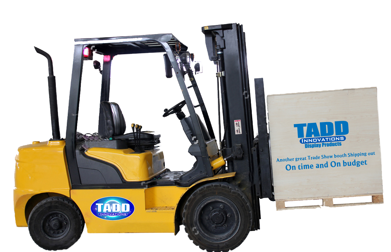 fork lift for trade shows