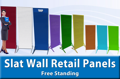 retail aluminum slat wall displays for trade shows