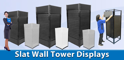 slat Wall Tower Display Button