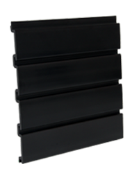 Black Slat wall PVC panels