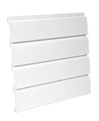 white slat wall PVC panels