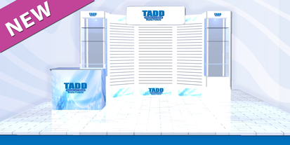 trade show booth with show Cases