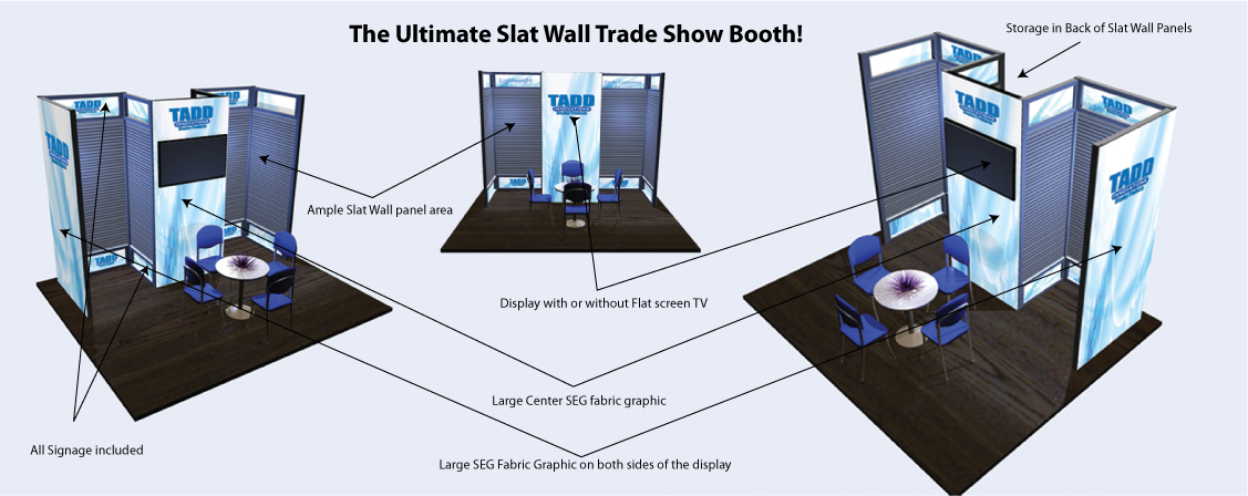 Best slat wall trade show booth