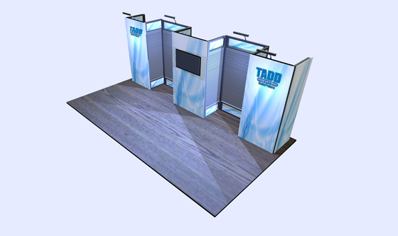 slat wall trade show booth