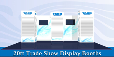 20 ft slat wall trade show booths for events and trade shows