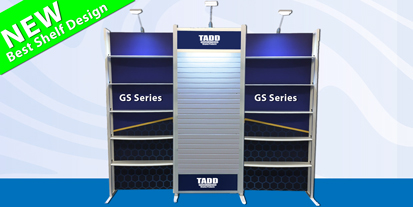 GS series slat wall and shelves