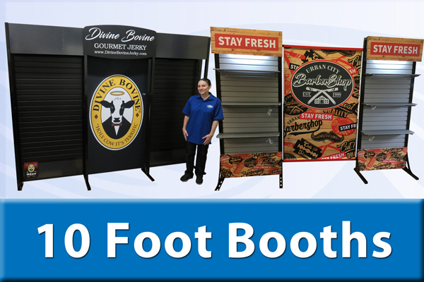 10 ft slat wall trade show booths
