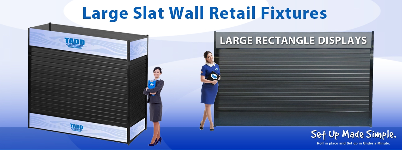 Retangle Slat Wall Towers