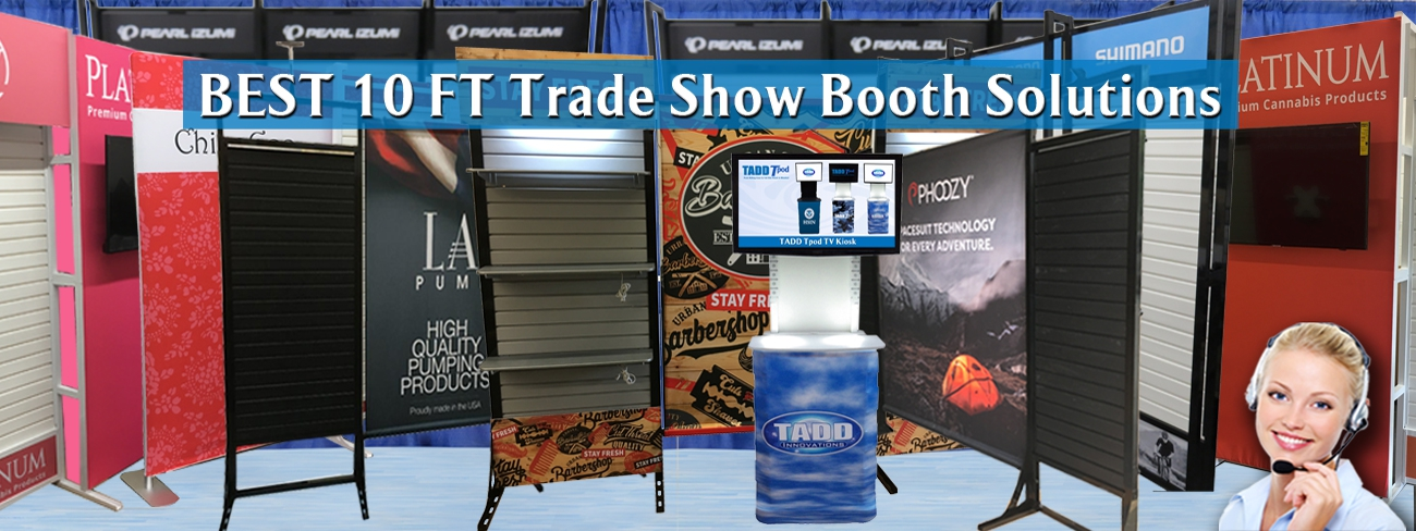 Many great low cost 10 ft  Trade Show booths to choose