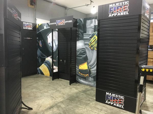 trade show display for 20 ft space