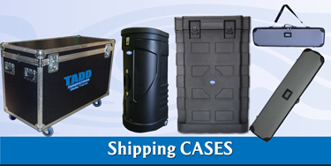 slat wall trade show shipping cases