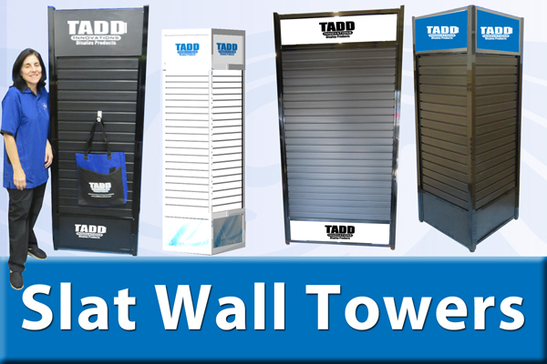 slat wall tower displays for trade shows